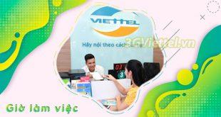 Cập nhật thời gian làm việc của điểm giao dịch Viettel trên toàn quốc