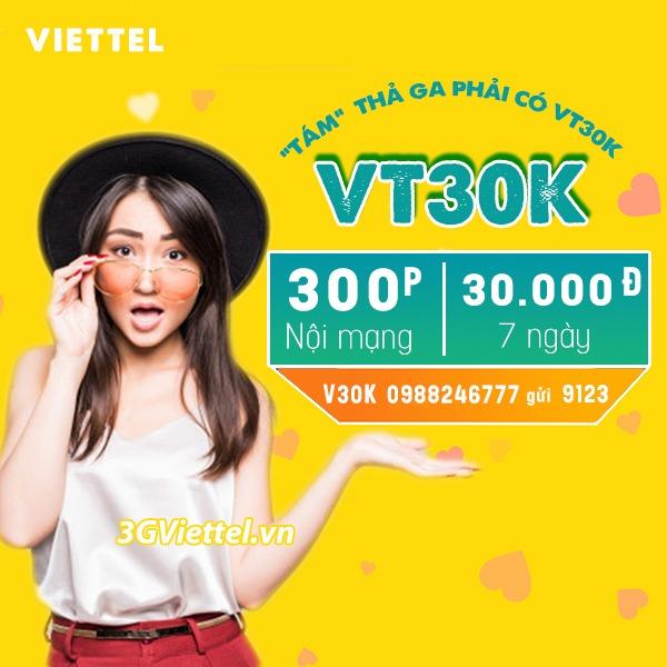 Hướng dẫn đăng ký gói cước Vt30k Viettel