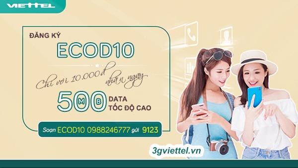 Hướng dẫn cách đăng ký gói cước ECOD10 viettel