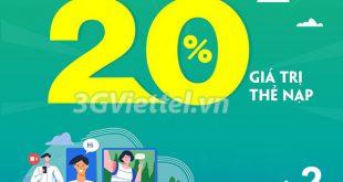 Chi tiết chương trình khuyến mãi Viettel ngày 21/9/2020