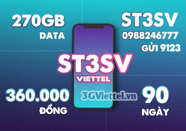 Hướng dẫn cách đăng ký gói cước ST3SV Viettel