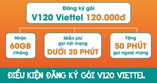 Điều kiện đăng ký gói cước V120 của Viettel