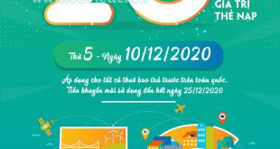 Khuyến mãi Viettel ngày 10/12/2020 ưu đãi ngày vàng toàn quốc