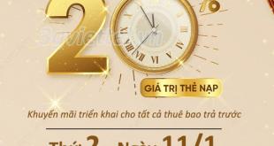 Viettel khuyến mãi ngày 11/1/2021 ưu đãi ngày vàng toàn quốc