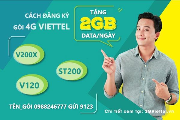 Tổng hợp các gói cước 4G Viettel 2GB data mỗi ngày