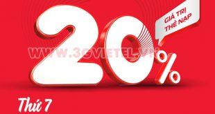 Viettel khuyến mãi 20/3/2021 ưu đãi cho thuê bao trả trước
