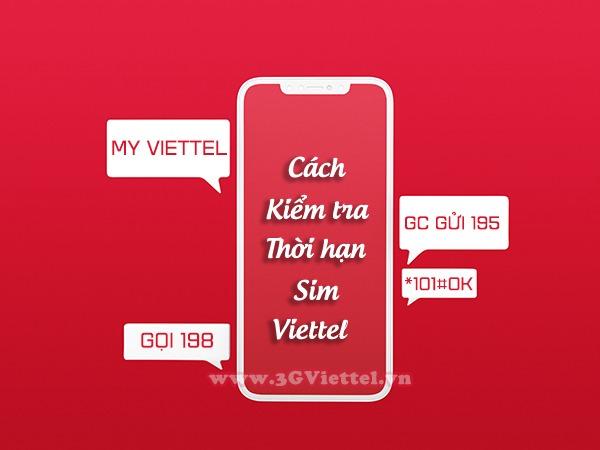 Cách kiểm tra thời gian sử dụng sim Viettel nhanh nhất