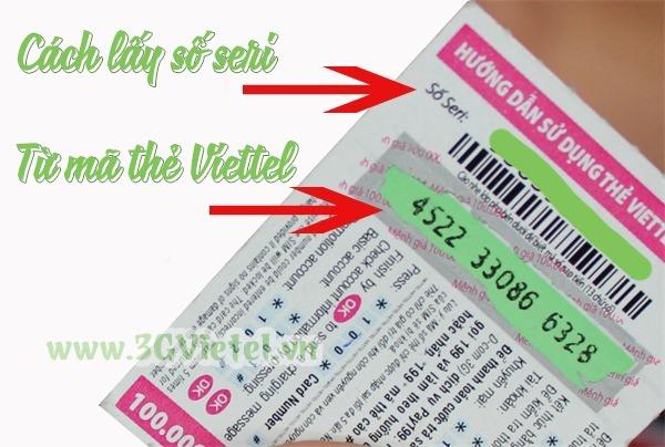 Hướng dẫn cách lấy số Seri từ mã thẻ cào Viettel chính xác nhất