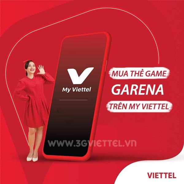Cách mua thẻ Game Garena trên My Viettel