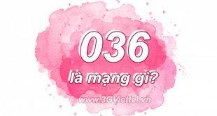 Đầu số 036 là mạng gì?