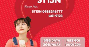 Đăng ký gói cước St15N Viettel miễn phí 6GB data, gọi thoại thả ga
