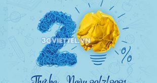 Khuyến mãi Viettel ngày 20/7/2021 ưu đãi 20% giá trị tiền nạp bất kỳ toàn quốc