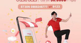Đăng ký gói cước ST30N Viettel miễn phí 14GB data, gọi thoại thả ca 7 ngày